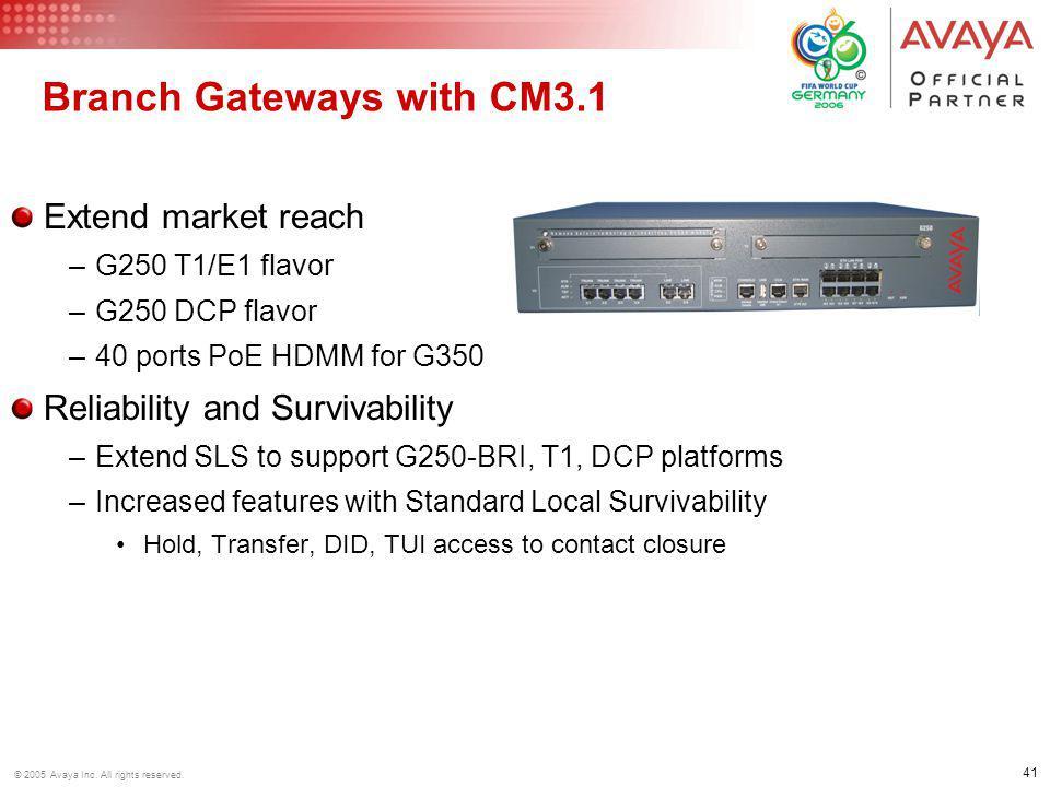 Branch Gateways with CM3.1