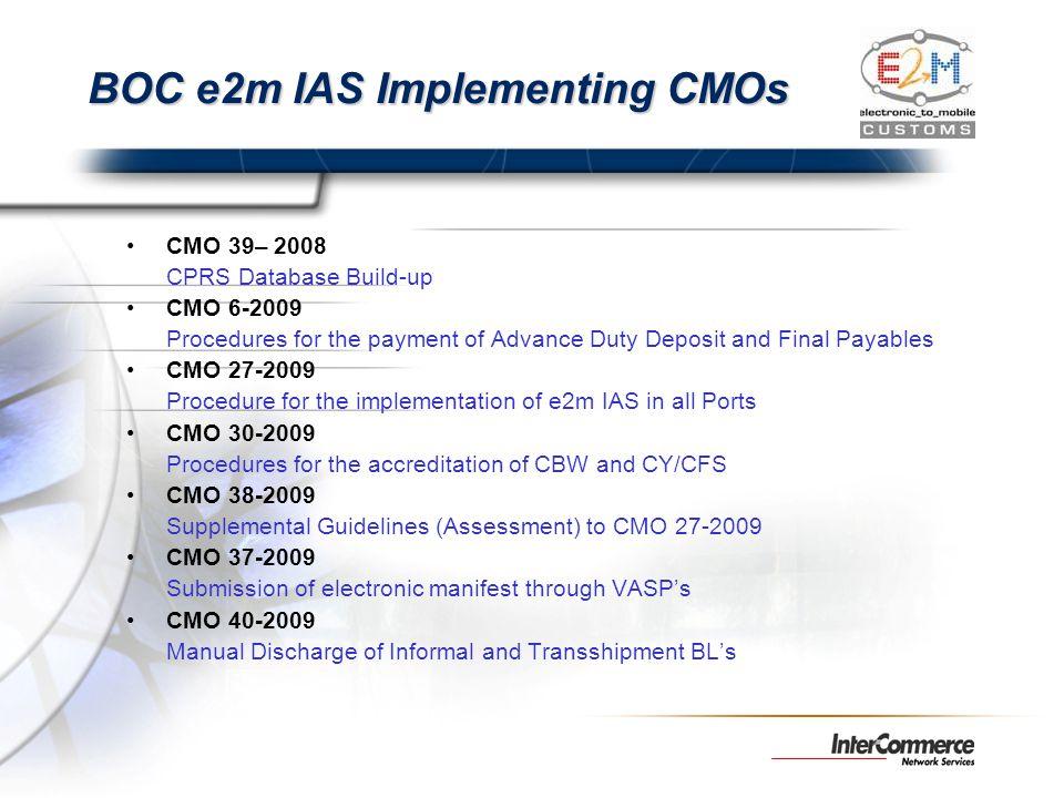 BOC e2m IAS Implementing CMOs