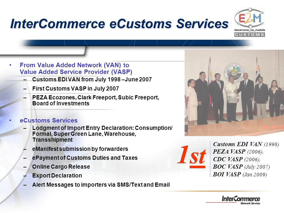 InterCommerce eCustoms Services