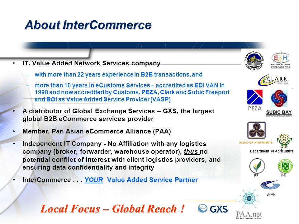 About InterCommerce Local Focus – Global Reach !