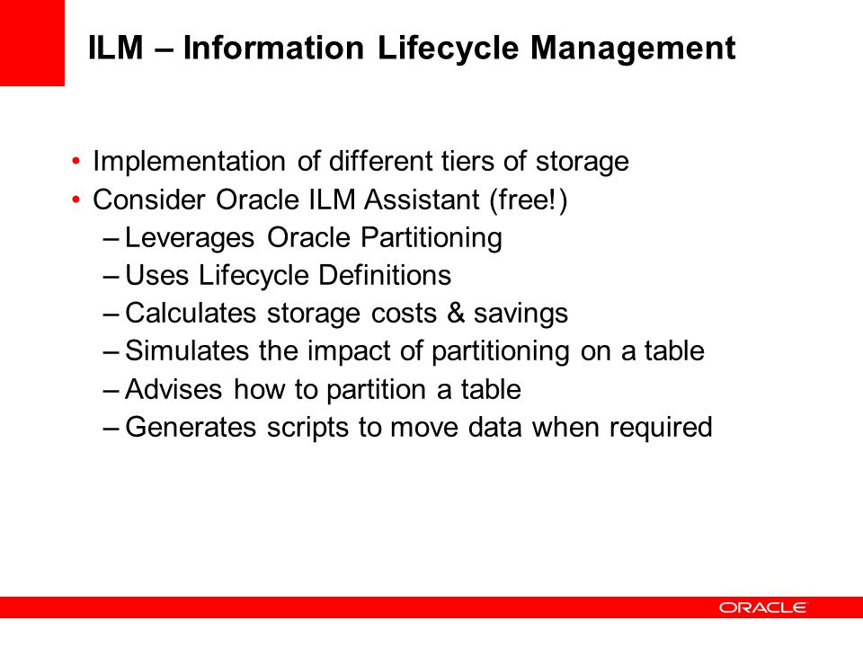 ILM – Information Lifecycle Management