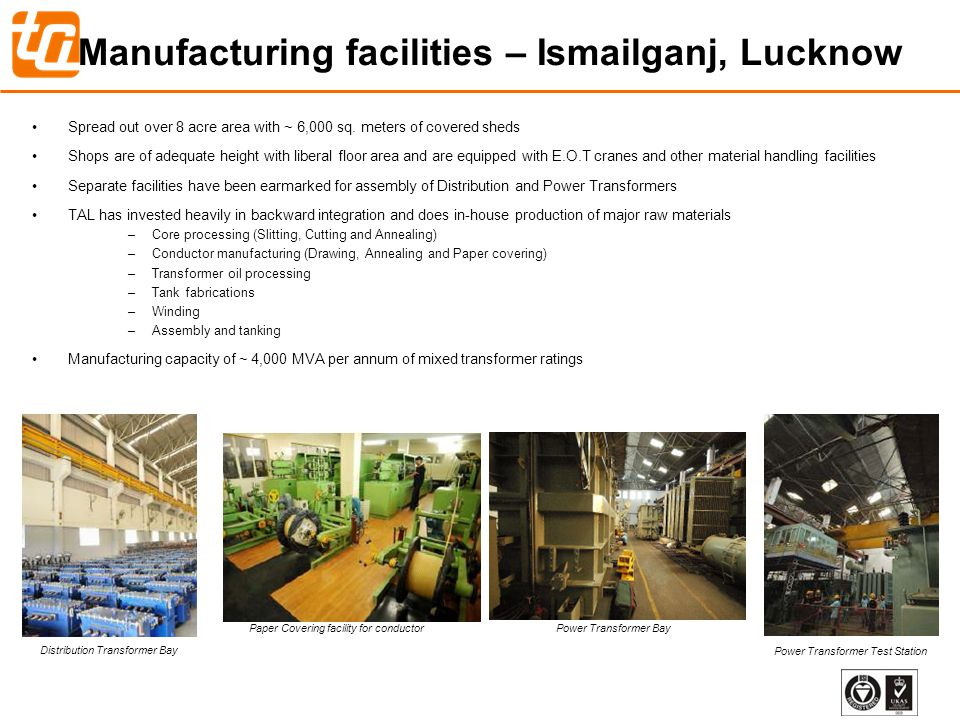 Manufacturing facilities – Ismailganj, Lucknow