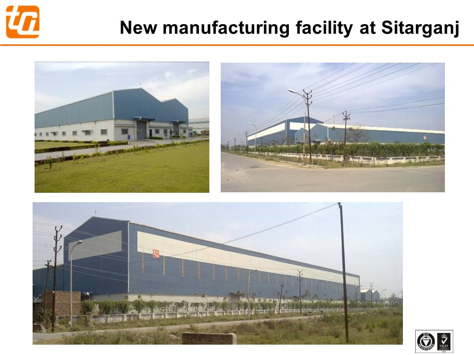 New manufacturing facility at Sitarganj