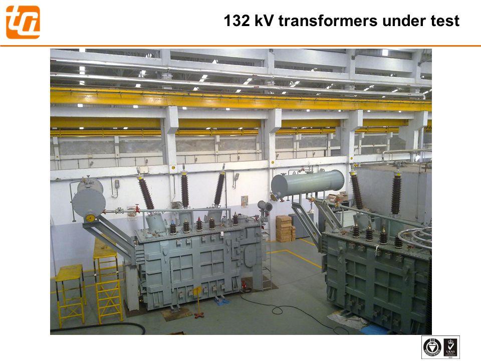 132 kV transformers under test