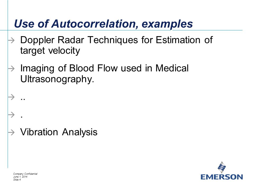 Use of Autocorrelation, examples