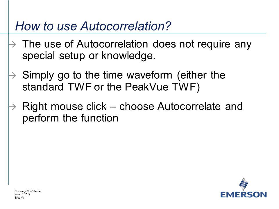 How to use Autocorrelation