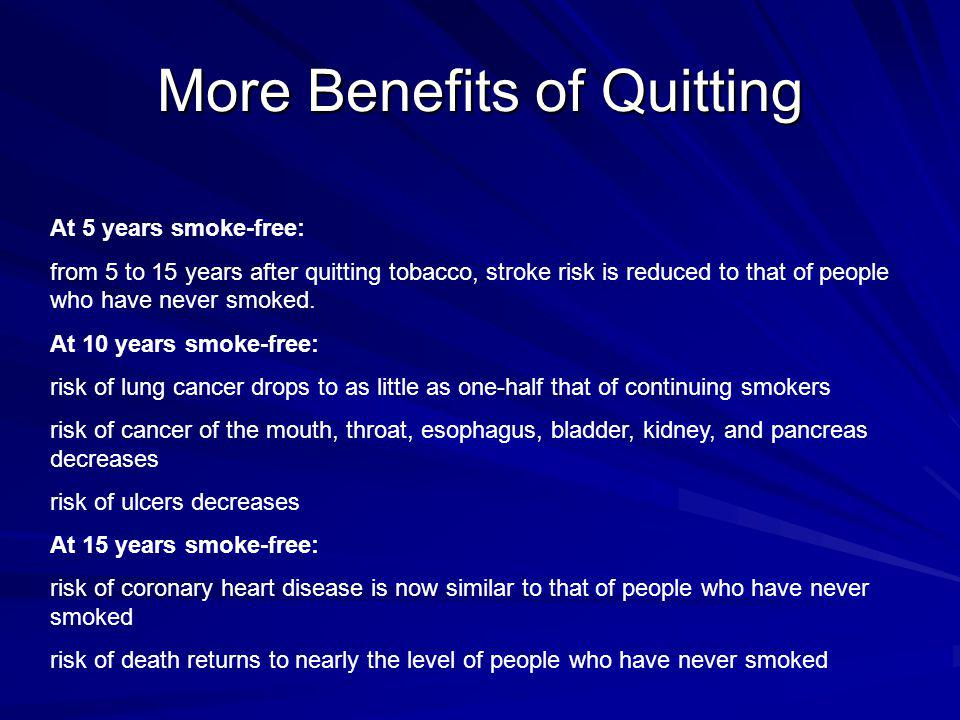More Benefits of Quitting