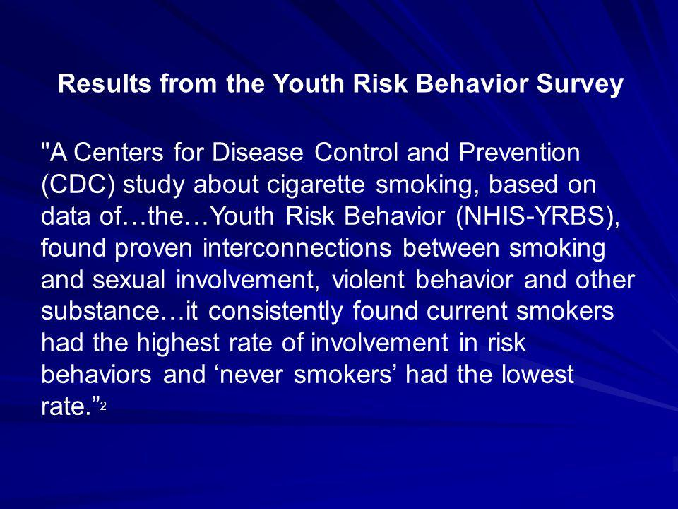 Results from the Youth Risk Behavior Survey