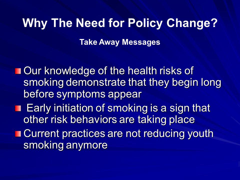 Why The Need for Policy Change