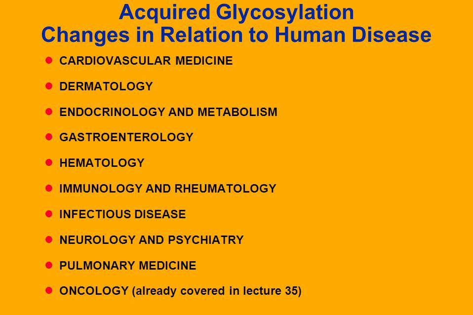 Acquired Glycosylation Changes in Relation to Human Disease