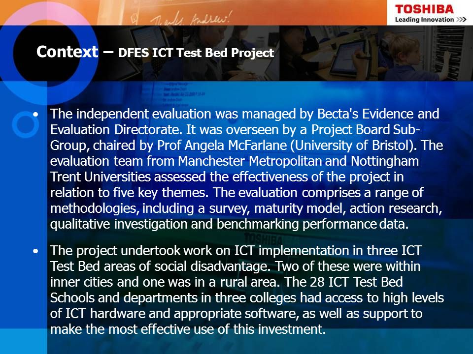 Context – DFES ICT Test Bed Project