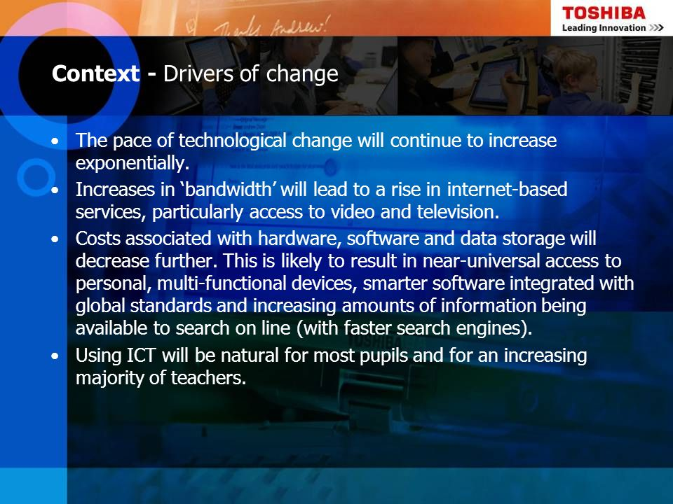 Context - Drivers of change