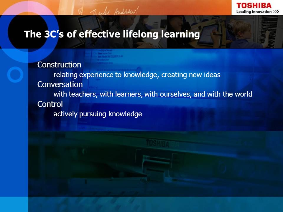The 3C's of effective lifelong learning