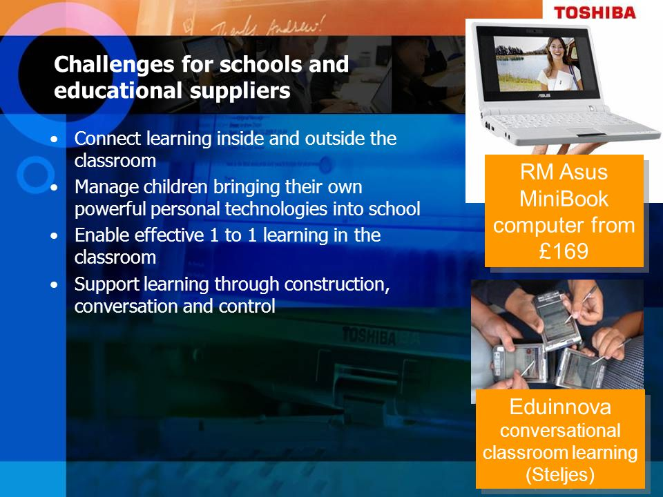 Challenges for schools and educational suppliers