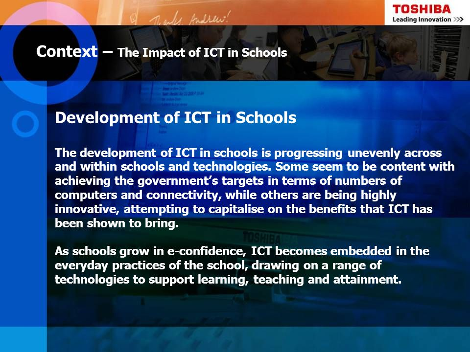 Context – The Impact of ICT in Schools