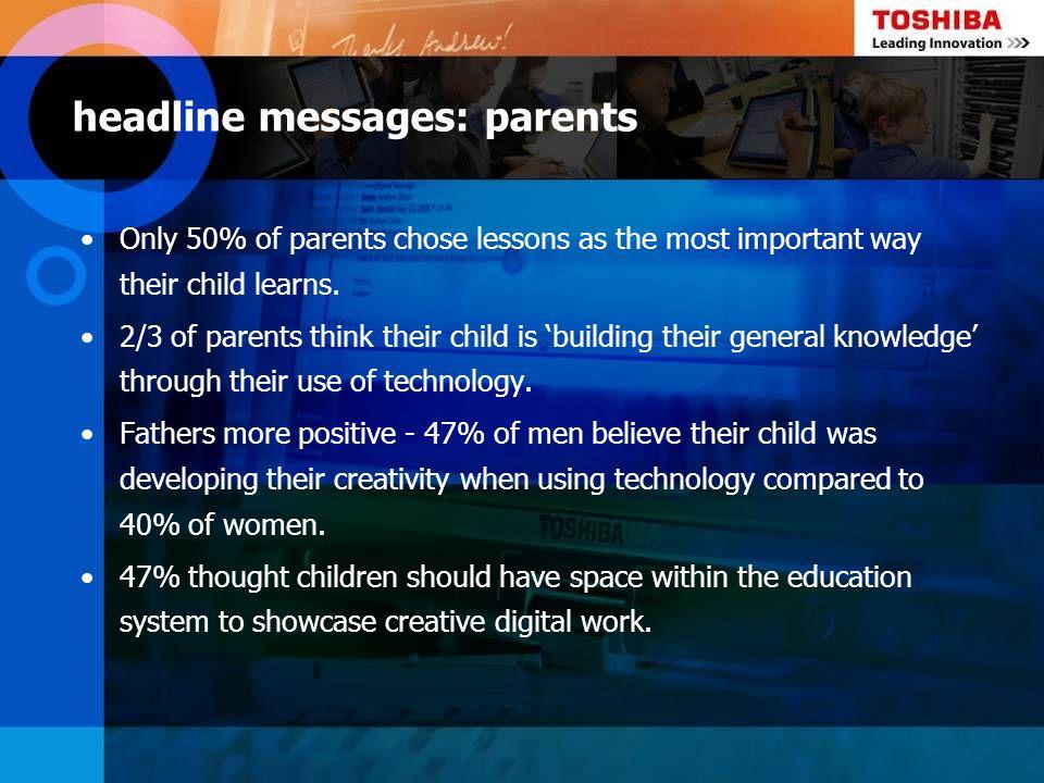 headline messages: parents