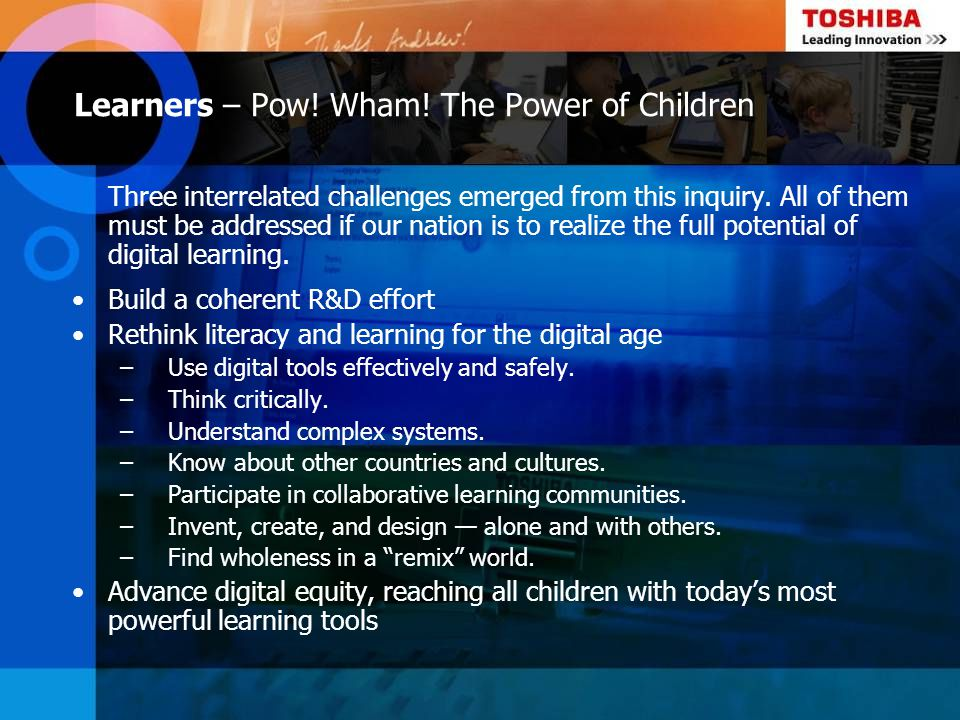 Learners – Pow! Wham! The Power of Children