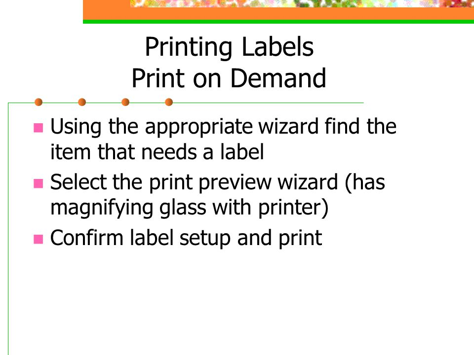 Printing Labels Print on Demand