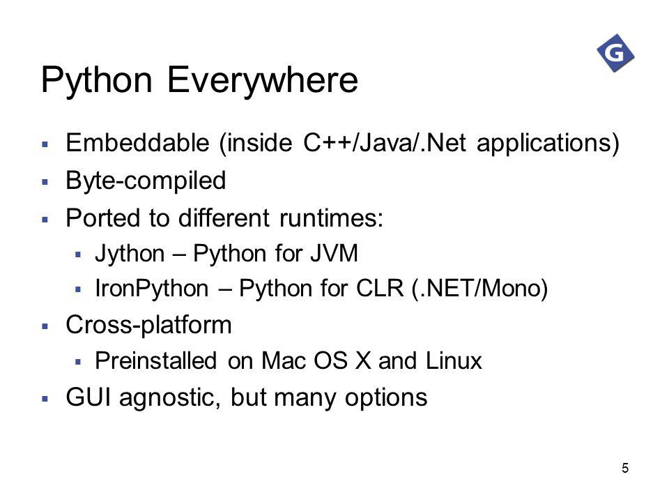 Python Everywhere Embeddable (inside C++/Java/.Net applications)