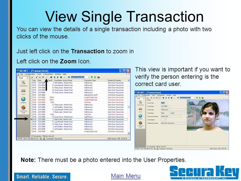 View Single Transaction
