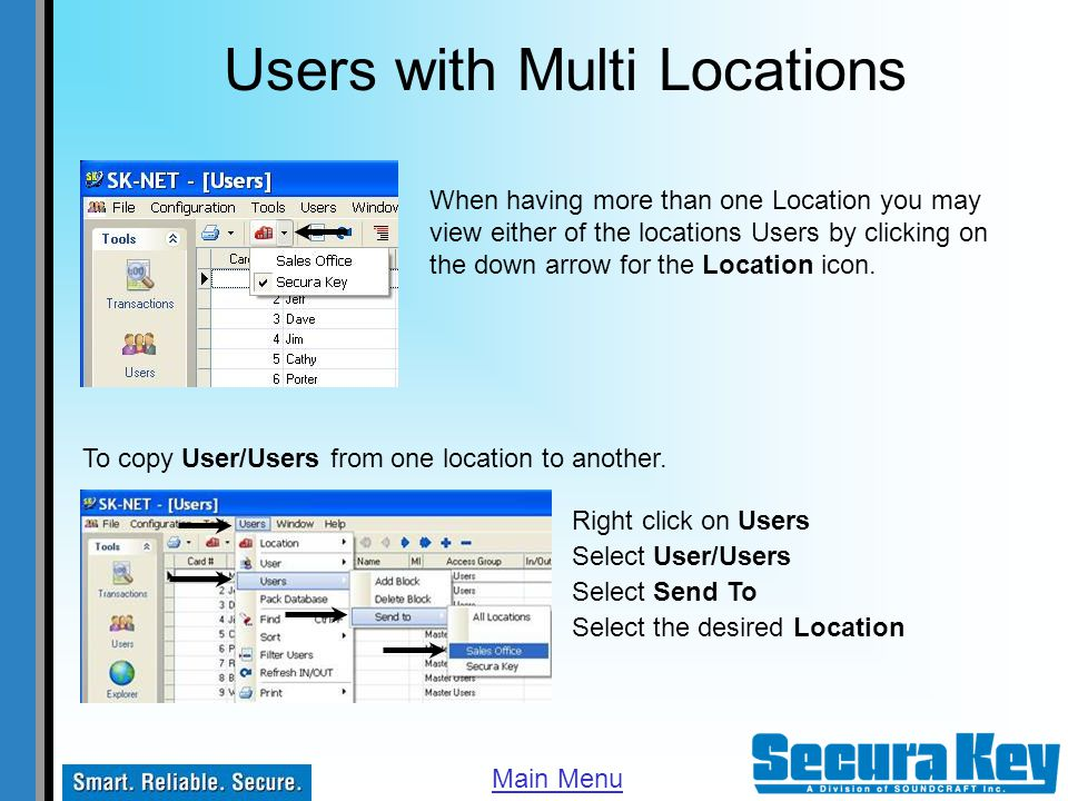 Users with Multi Locations
