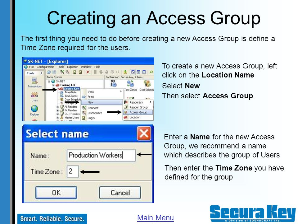 Creating an Access Group
