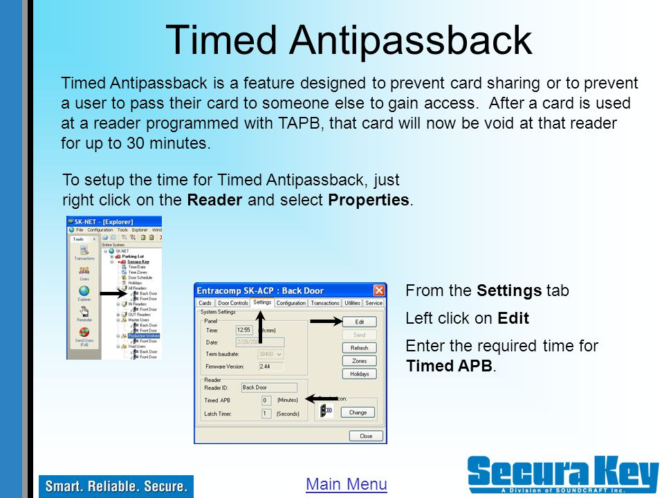 Timed Antipassback