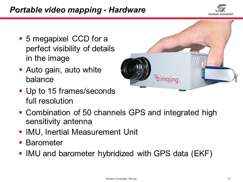 Portable video mapping - Hardware