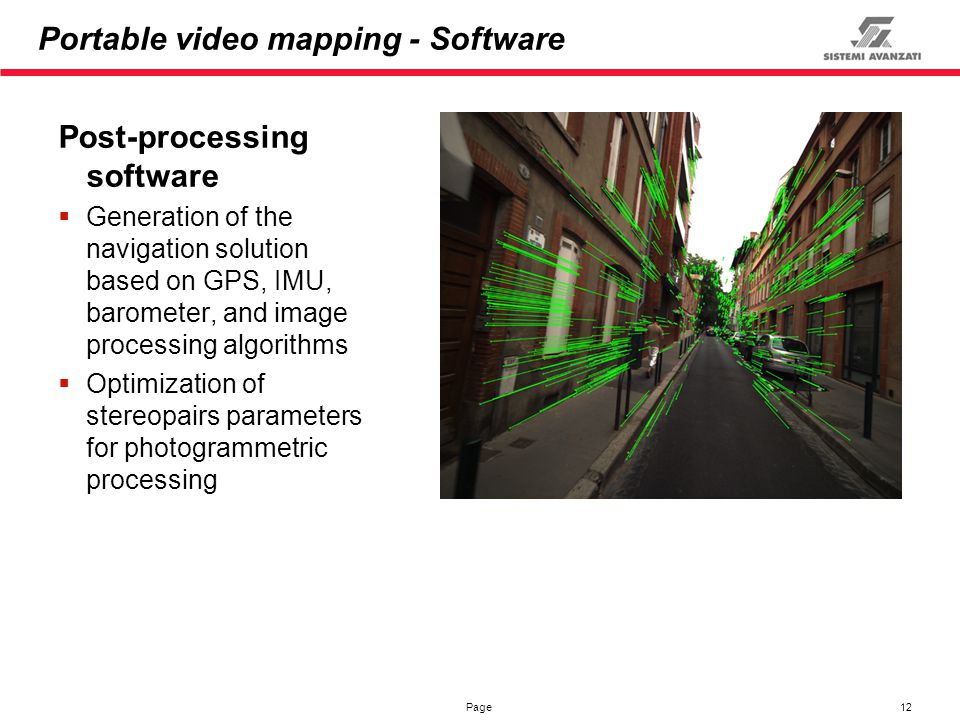 Portable video mapping - Software