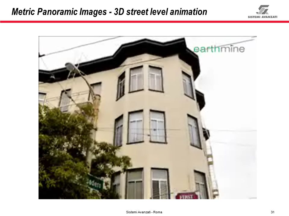 Metric Panoramic Images - 3D street level animation