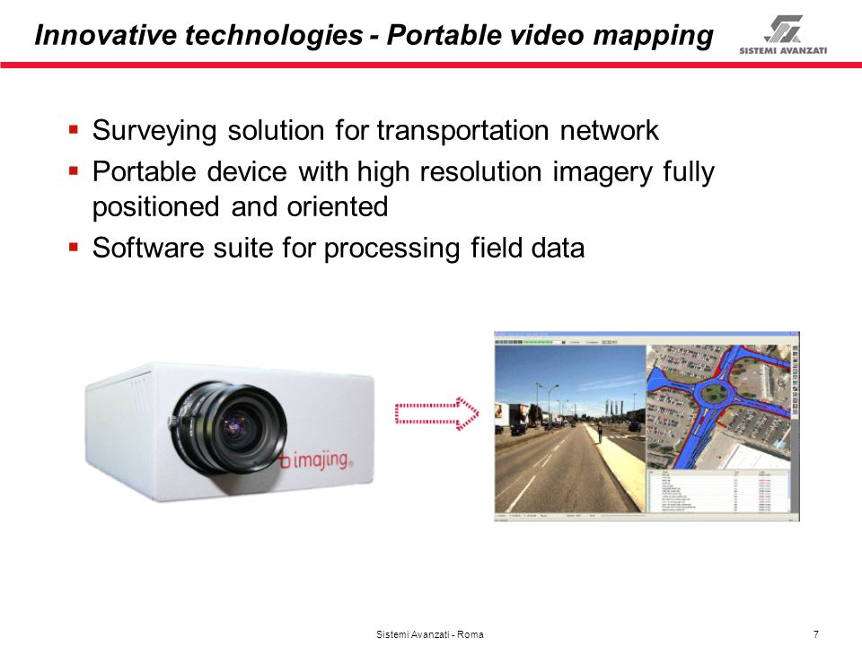 Innovative technologies - Portable video mapping