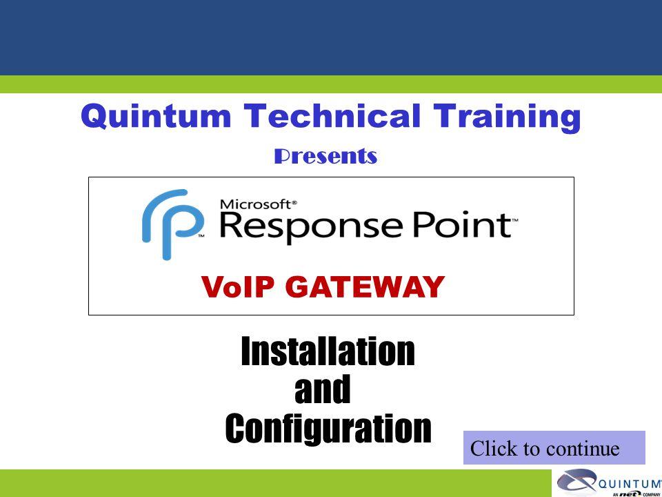 Quintum Technical Training