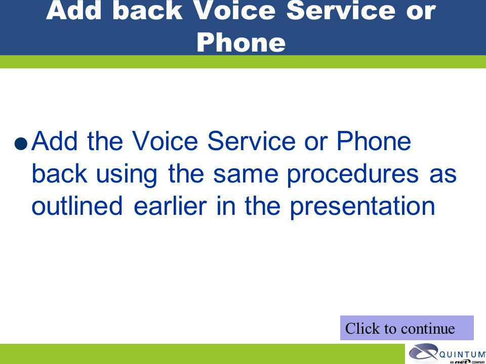 Add back Voice Service or Phone