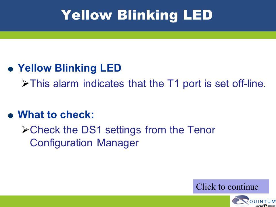 Yellow Blinking LED Yellow Blinking LED