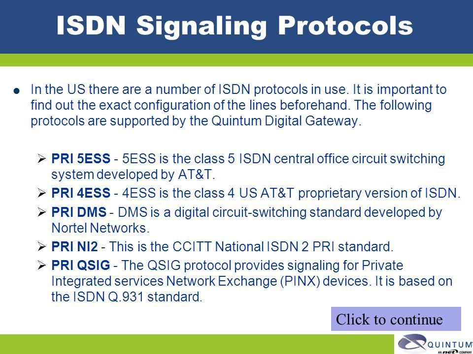 ISDN Signaling Protocols