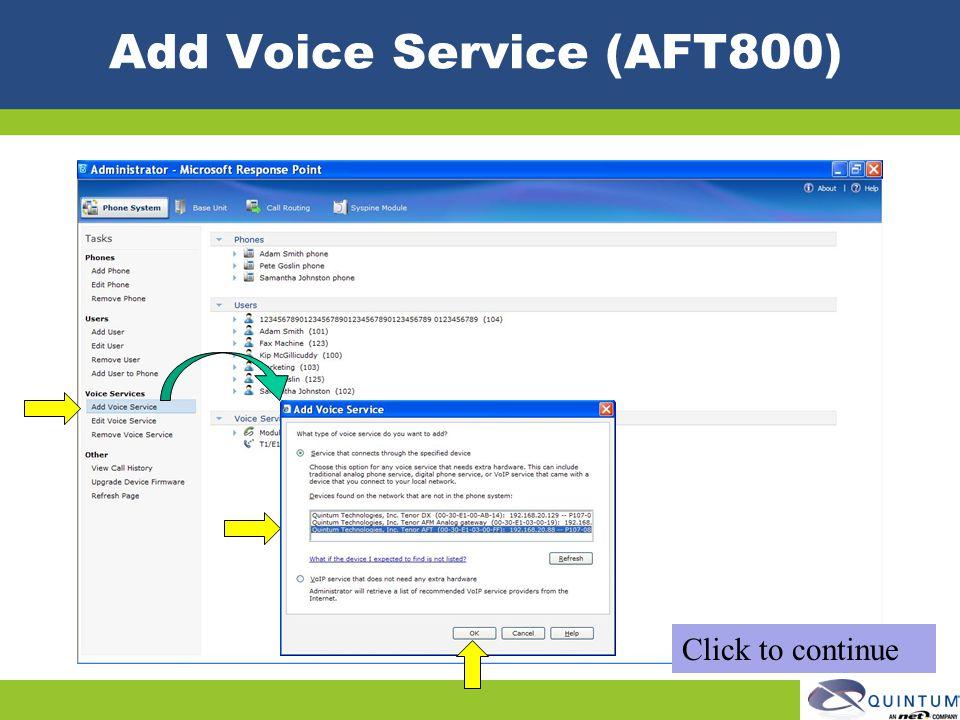 Add Voice Service (AFT800)
