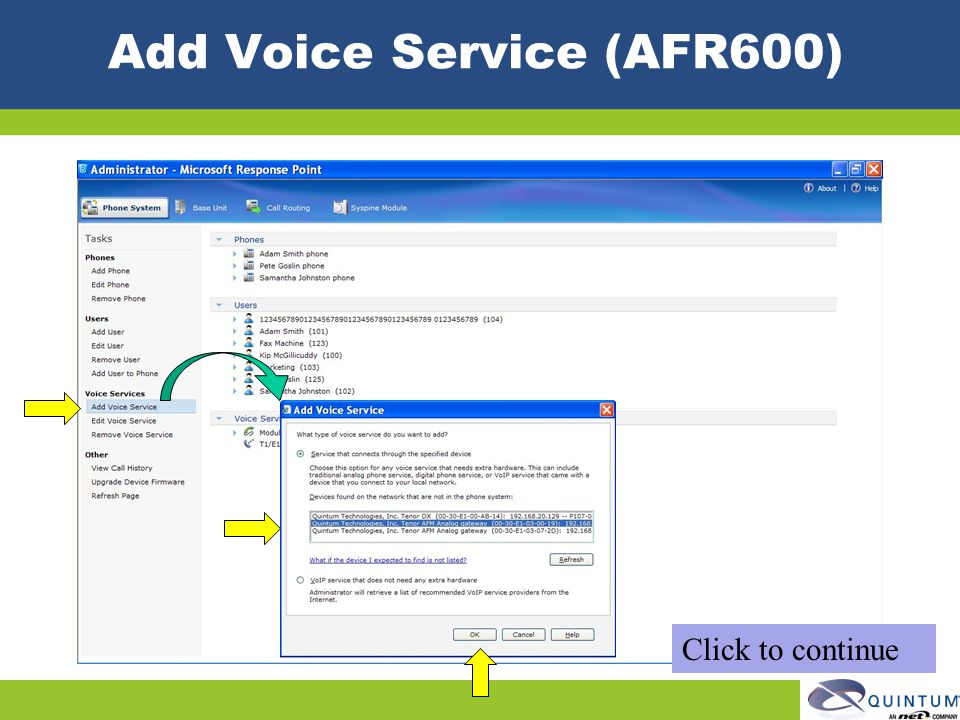 Add Voice Service (AFR600)