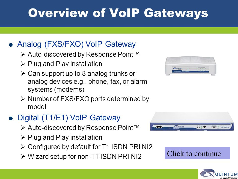 Overview of VoIP Gateways