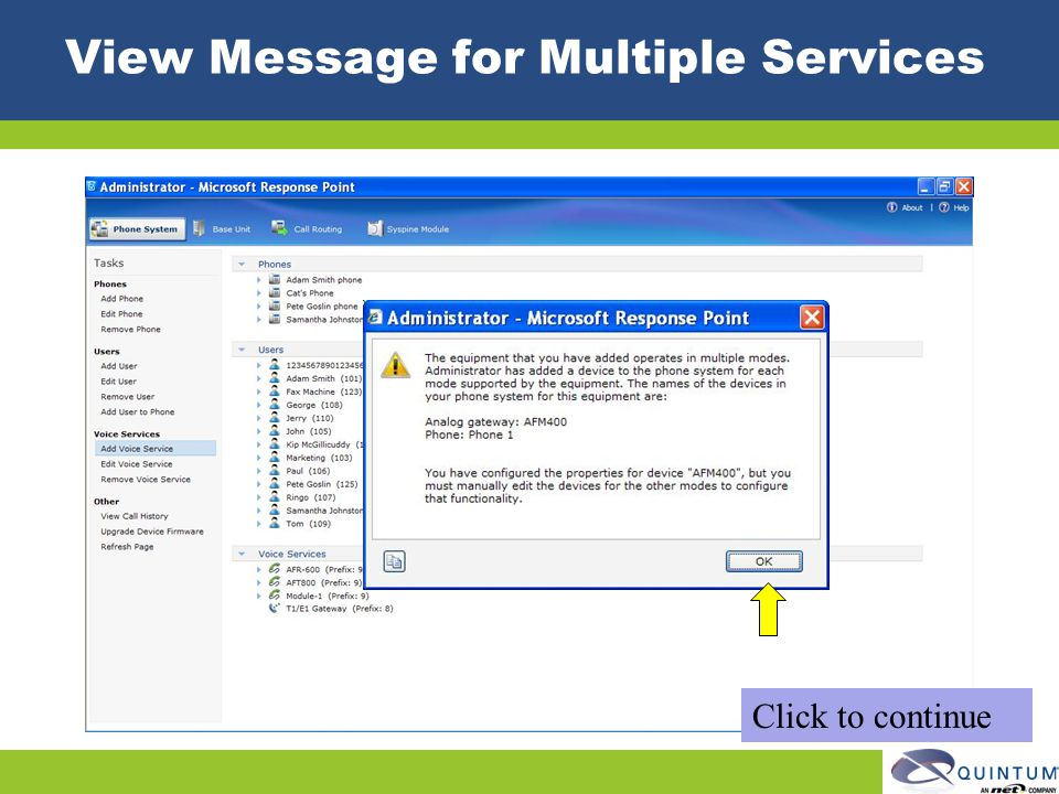 View Message for Multiple Services