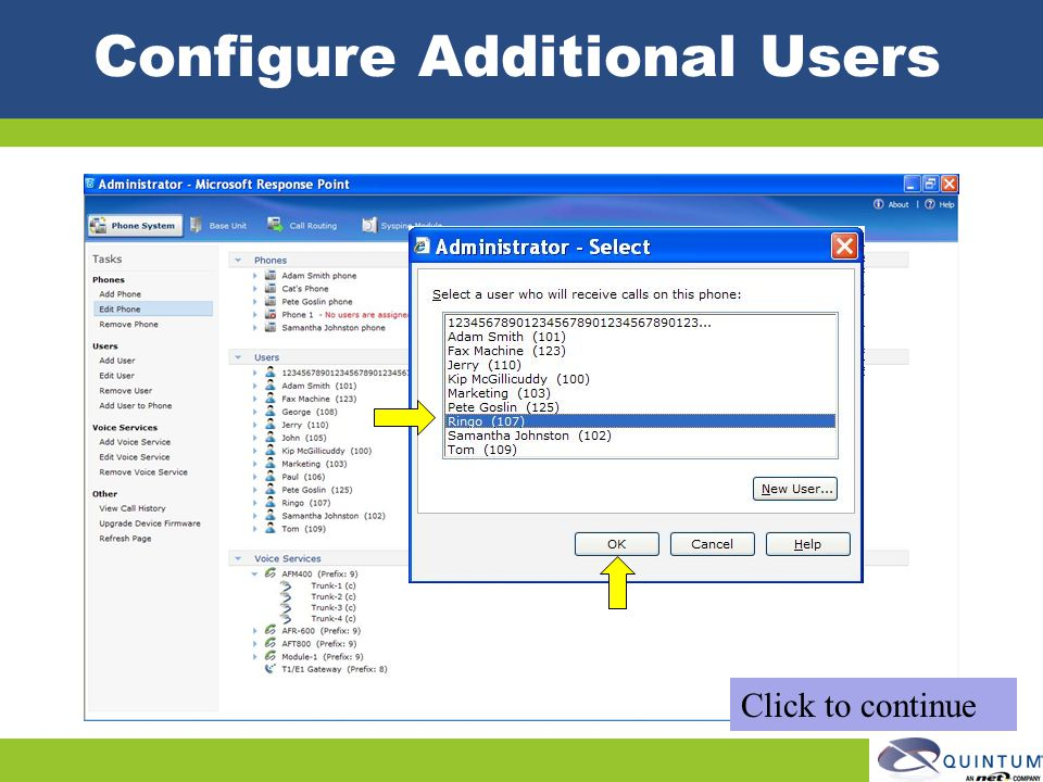 Configure Additional Users