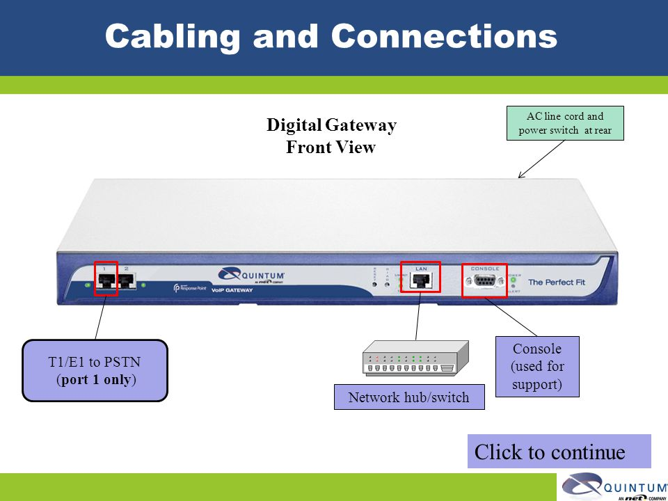 Cabling and Connections