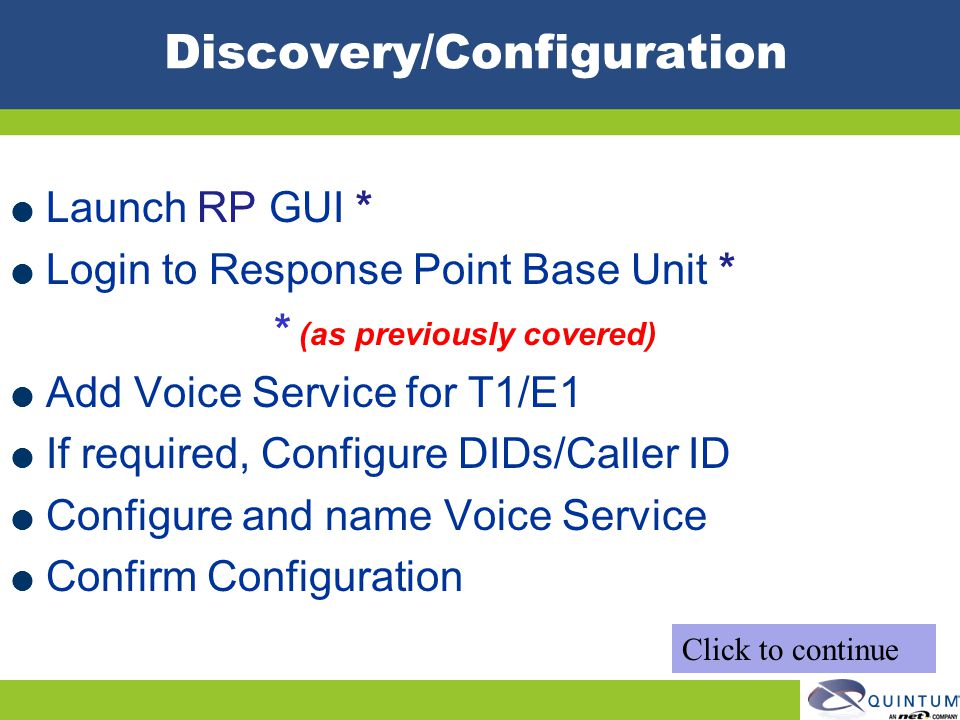 Discovery/Configuration