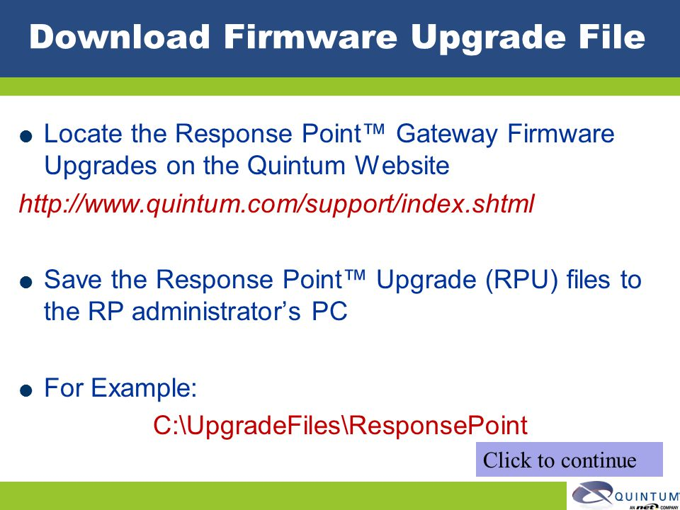 Download Firmware Upgrade File