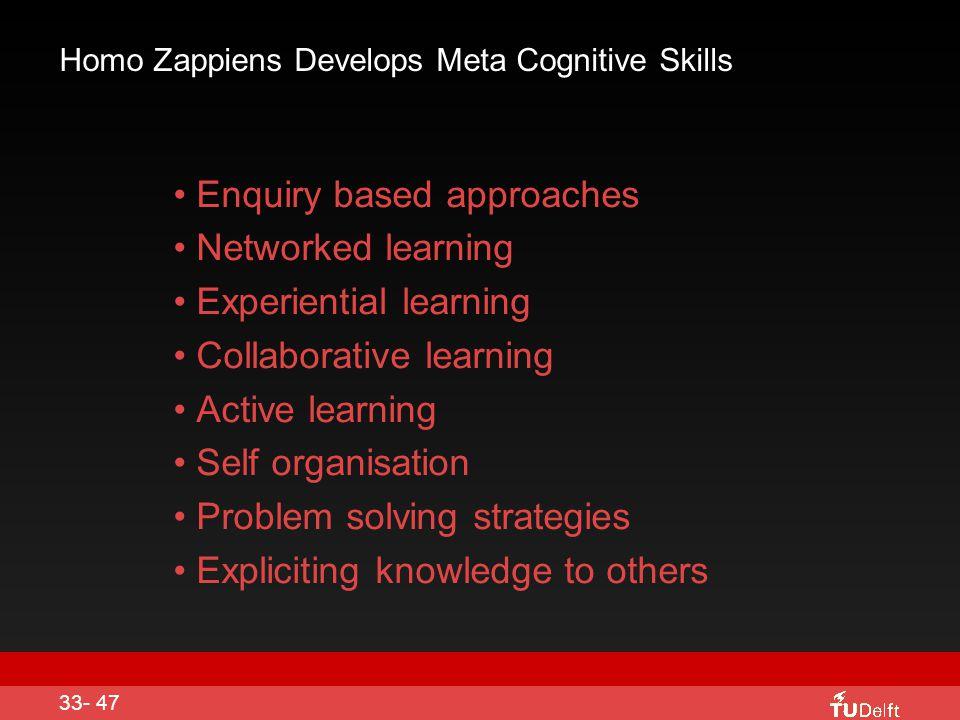 Homo Zappiens Develops Meta Cognitive Skills