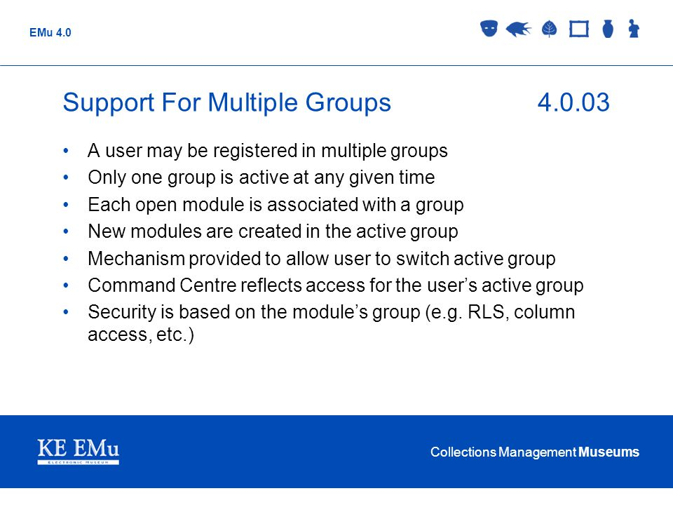 Support For Multiple Groups 4.0.03