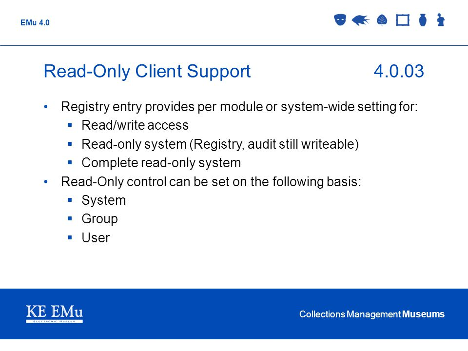 Read-Only Client Support 4.0.03