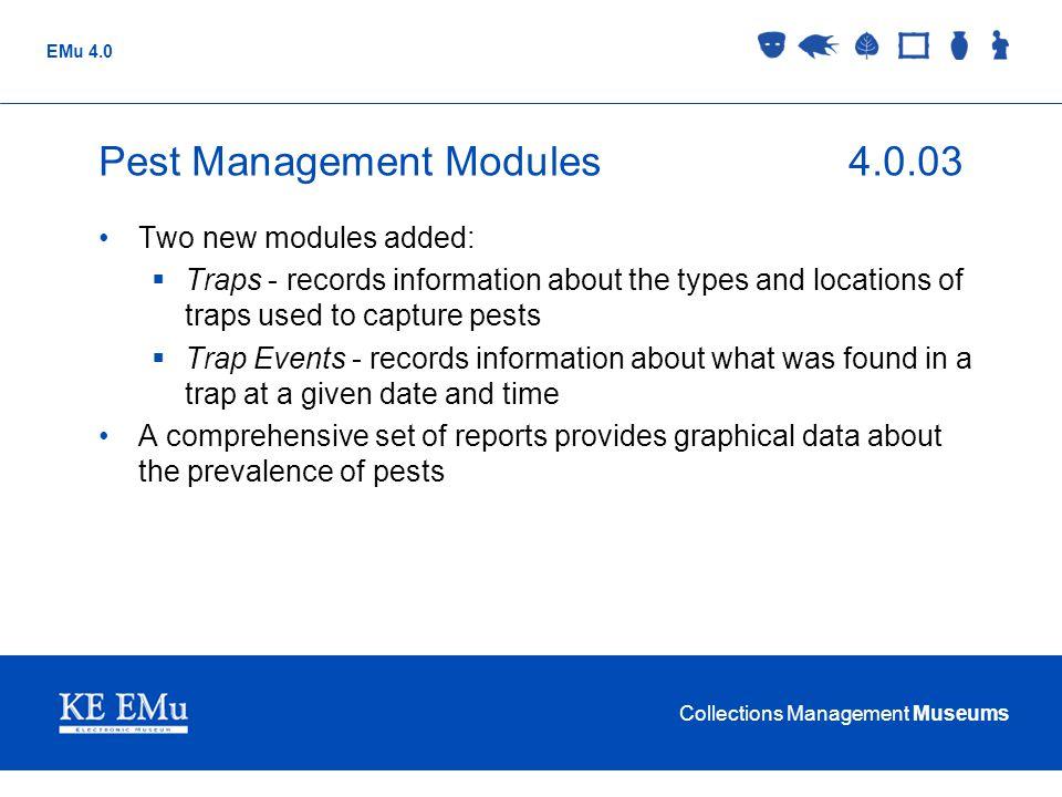 Pest Management Modules 4.0.03