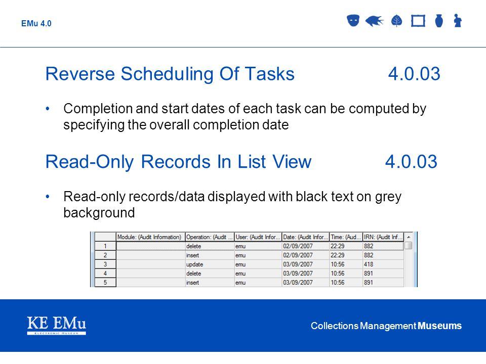 Reverse Scheduling Of Tasks 4.0.03