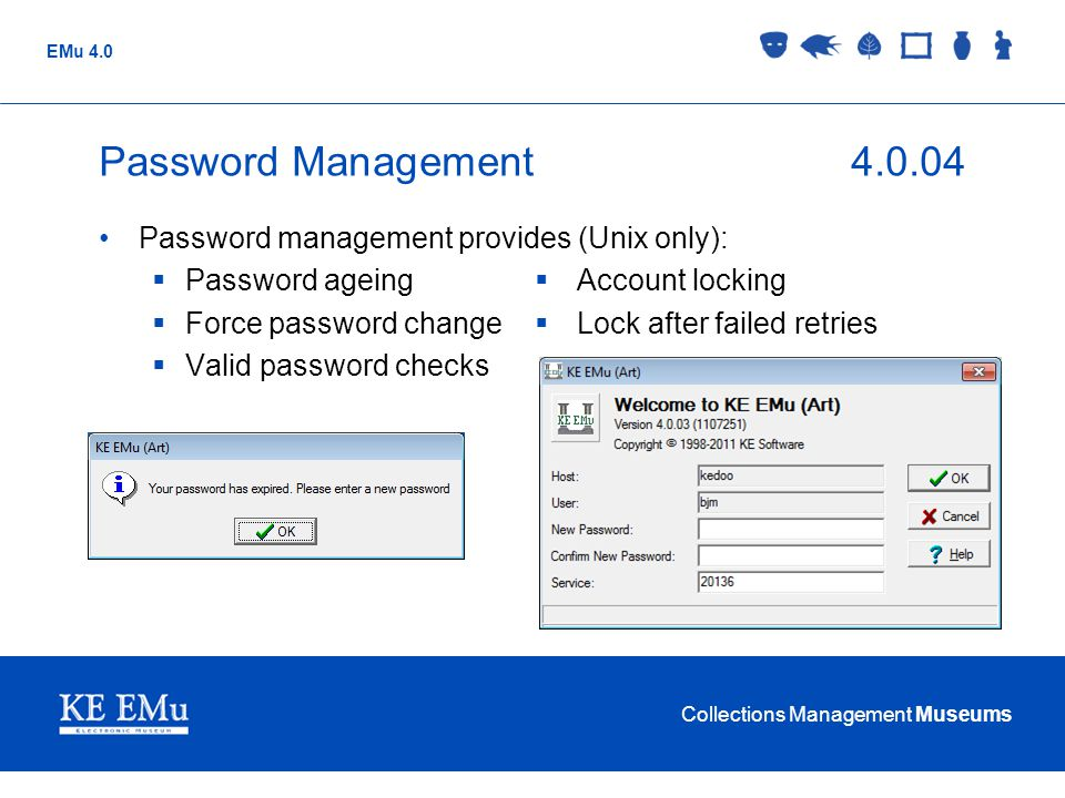 Password Management 4.0.04 Password management provides (Unix only):