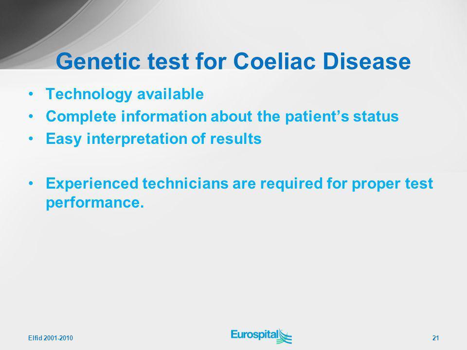 Genetic test for Coeliac Disease